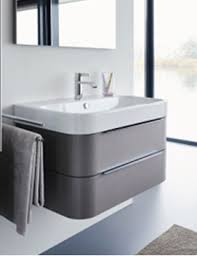 600 Vanity Unit Duravit Happy D 2 Wall Mounted 2 Drawers Vanity Unit 625mm