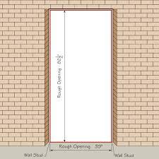 Standard Door Width Interior Glamorous Exterior Door Opening Big Contemporary