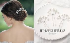 handmade hair accessories aukmla wedding hair pins accessories for women pack