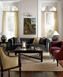 chicago modern chesterfield sofa living room eclectic with framed