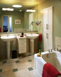 corner pedestal sink spaces contemporary with floating vanity