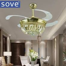online get cheap crystal ceiling fans aliexpress com alibaba group