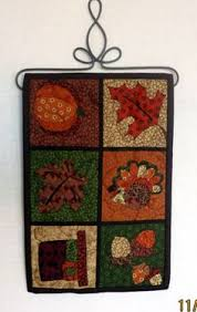 thanksgiving turkey and leaves wall hanging quilts