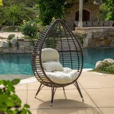 Christopher Knight Home Swinging Egg Outdoor Wicker Chair by Amazon Com Dermot Multibrown Wicker Lounge Teardrop Chair W