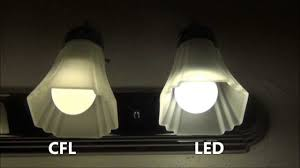 cfl vs led side by side comparison youtube