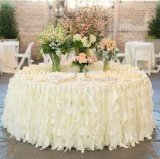 wedding table linens ruffles table skirt handmade wedding table decorations