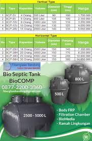 Bio Di Bandung harga bio septic tank termurah seindonesia fiberglass bandung