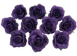 amazon com 10 purple heads silk flower wedding reception
