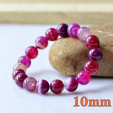 rose color bracelet images 2018 rose color charm natural agate precious stone round shape jpg