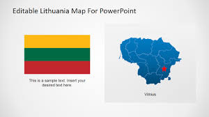 Map Of Lithuania Editable Lithuania Powerpoint Map Slidemodel