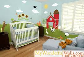 theme wall easy technique for painting a farm theme wall mural in baby