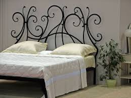 Decorative Metal Bed Frame Queen Bedroom Pretty Artistic Decoration Bedroom With Yellow Pattern