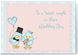 wedding congrats card blue birds wedding congratulations greeting card by starstock