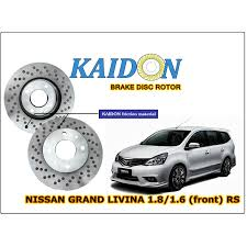 accessories nissan grand livina nissan grand livina 1 8 1 6 disc rotor kaidon front type rs spec