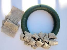 styrofoam wreath burlap wreath hgtv