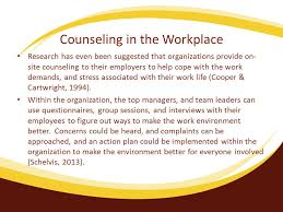 Counselling At Workplace Ppt Intervention Stress Management Team