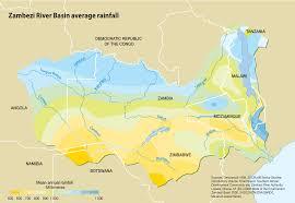 Congo River Map Zambezi River Basin Average Rainfall Grid Arendal