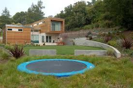 inground trampoline landscape with trampolines down under in