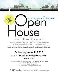 free open house ucla extension landscape architecture program