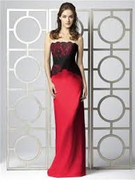 30 best black u0026 red bridesmaid dresses images on pinterest red