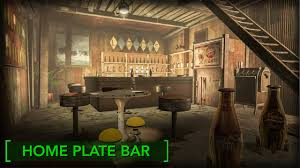 home plate fallout 4 home plate bar redecorating home plate youtube