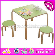 wooden kids study desk study table colorful wooden toy study table