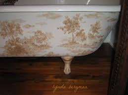 Claw Foot Bathtub Lynda Bergman Decorative Artisan Hand Painted