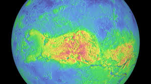 Venus Map Svs Magellan Venus False Color Terrain