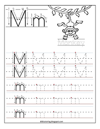 free printable worksheet letter m for your child to learn and