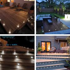 White Patio Lights by 10x Led Pathway Deck Light Outdoor Patio Garden Yard Landscape