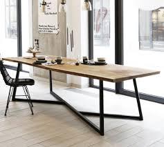 Esszimmertisch Industriedesign Ideen Esstisch Steal Oak Massive Eiche Design Stahlgestell Stil