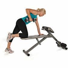 Fitness Gear Ab Bench Stamina Ab Hyper Bench Pro Walmart Com