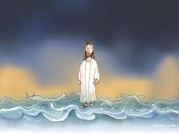 free bible images peter tries to walk on water but when his faith