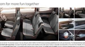 renault lodgy interior renault lodgy world edition youtube