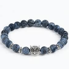 bracelet beaded images Owl heads beaded energy bracelets available in lava stone lapis lazul jpg