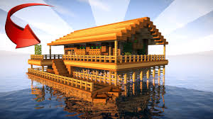 Compact House Starter House In Minecraft On The Water Minecraft Things