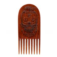 sugar skull high gloss hair comb beardgains com