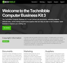 It Technician Business Card Technibble Computer Business Kit V3 Technibble