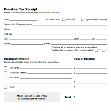 Tax Donation Letter Template 16 donation receipt template sles templates assistant