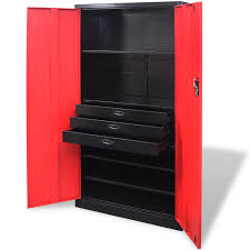 vidaxl co uk metal tool storage cabinet with removable tool