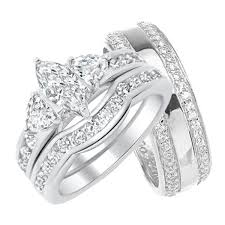 wedding sets for him and his and hers wedding rings sterling silver titanium stainless