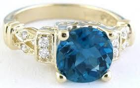 london blue topaz engagement ring london blue topaz rings in 14k yellow gold gr 6040