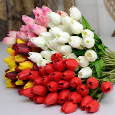 tulips flowers artificial tulips floral decor ebay
