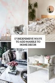 home decor inexpensive 17 inexpensive ways to add marble to home décor shelterness