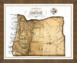 Oregon Maps by Old Map Of Oregon U2013 A Great Framed Map That U0027s Ready To Hang