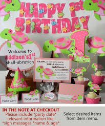 baby girl 1st birthday themes turtle birthday party decorations or baby shower girl pink
