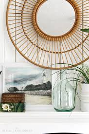i love this rattan mirror from target livening up our living
