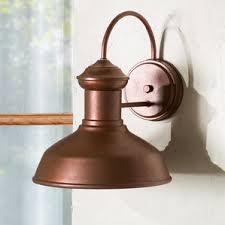 copper outdoor wall lighting you u0027ll love wayfair