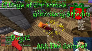 minecraft hypixel party every minigame with friends 12 days