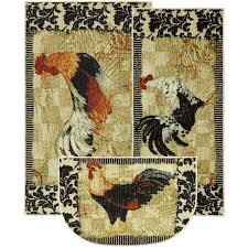 Round Rooster Rug Innovative Rooster Kitchen Rugs Rooster Rugs For The Kitchen Some